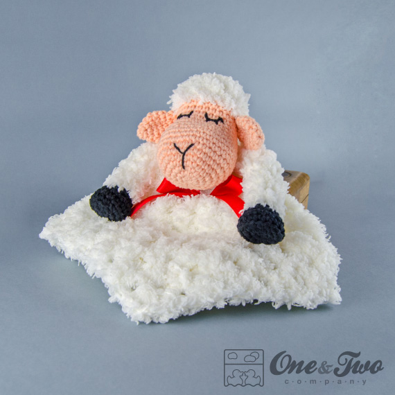 Sweet Sheep Lovey Security Blanket Pdf Crochet Pattern On Luulla