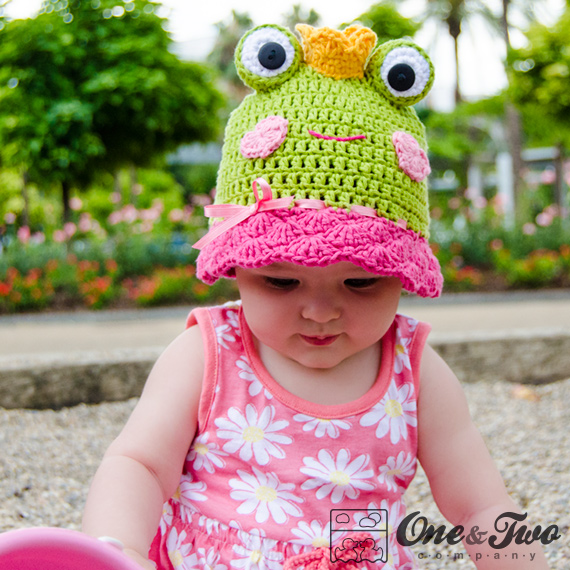 Amy The Frog Sun Hat Pdf Crochet Pattern 6 Sizes Newborn To