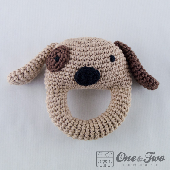 Dog Rattle Pdf Crochet Pattern Instant Download Animal Rattle